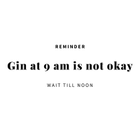 Reminder Gin at 9am is not okay wait until noon